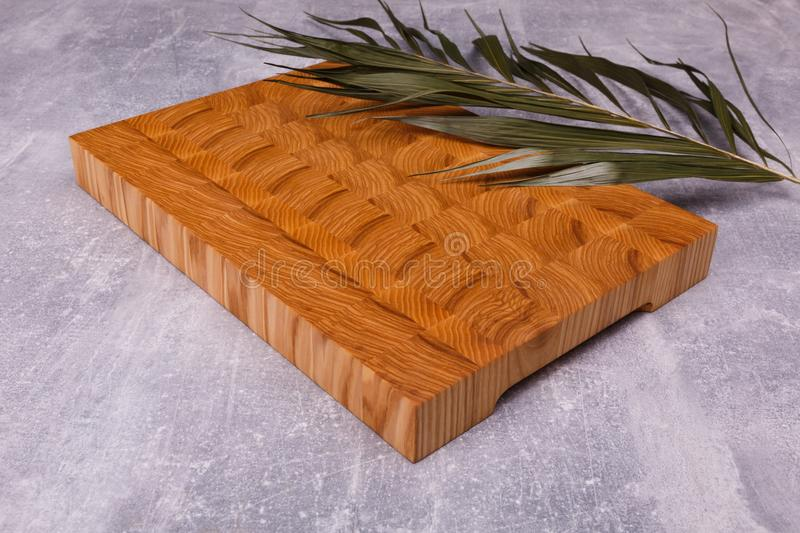 A wooden board of interesting shape stock images