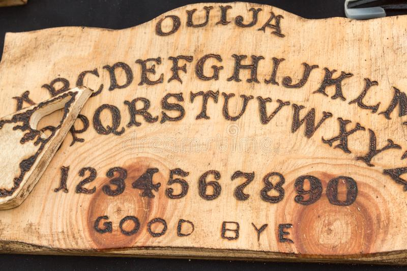 Wooden Board Ouija: Communication with Spirits.  stock images
