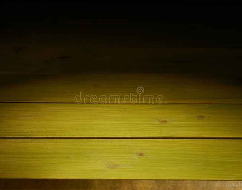 Wooden boards background composition. Green paint coated wooden boards copyspace background composition with the low key lighting stock photography
