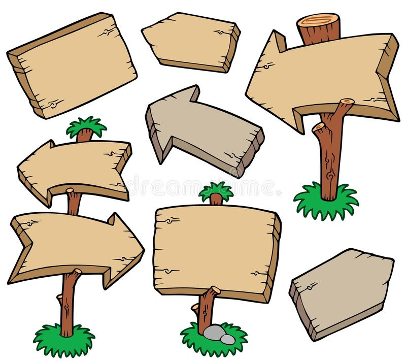 Download Wooden boards collection stock vector. Image of branch - 14347906