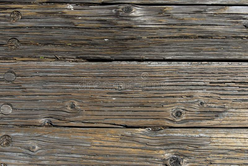 Wooden boards forming a rustic floor royalty free stock image