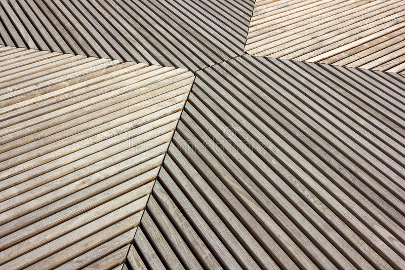 Wooden boards grey periodically perpendicular and parallel stock photo