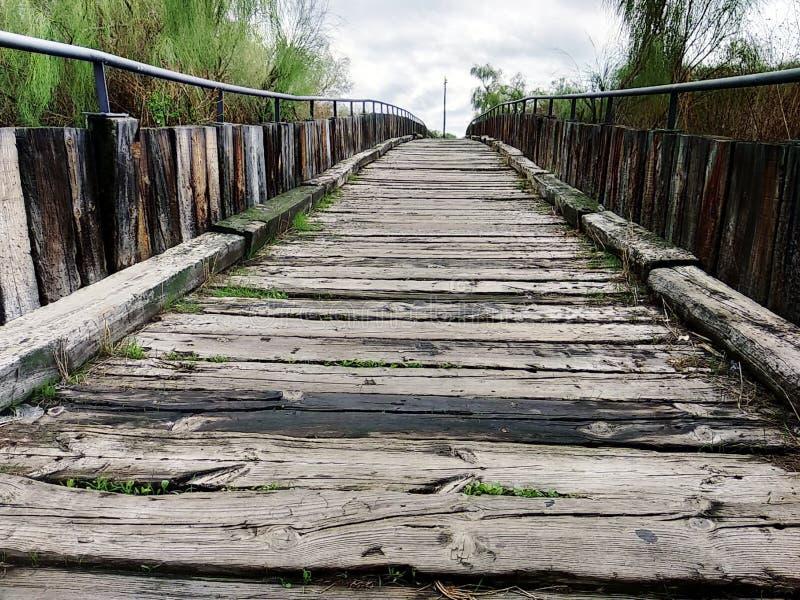 Isla Cristina`s wooden boardwalk. Wooden boardwalk Isla Cristina province of Huelva, Spain stock image