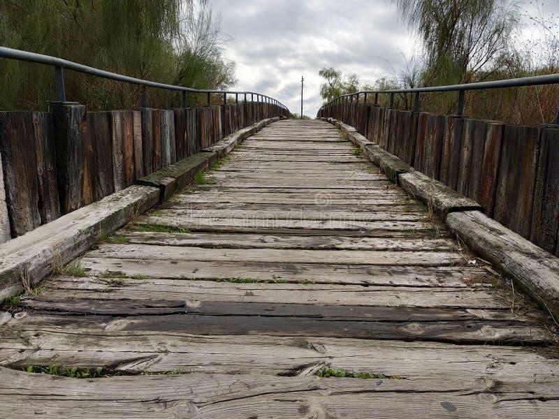 Isla Cristina`s wooden boardwalk. Wooden boardwalk Isla Cristina province of Huelva, Spain stock photo