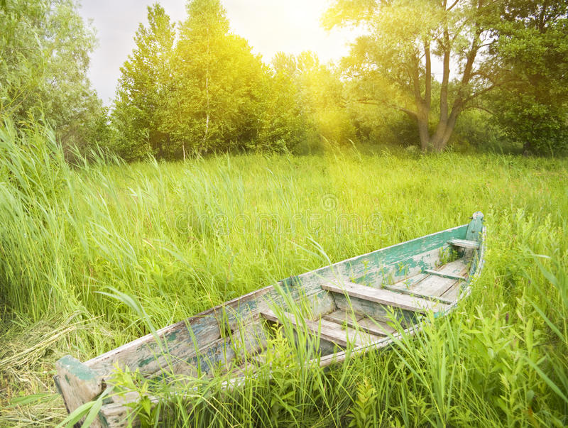Download Wooden boat stock photo. Image of tranquil, travel, brown - 21950732