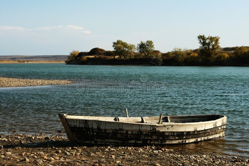 Download Wooden boat stock photo. Image of backlit, bright, shore - 6979740
