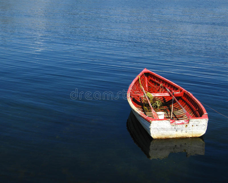 Download Wooden boat on blue sea stock image. Image of boat, calm - 33582005