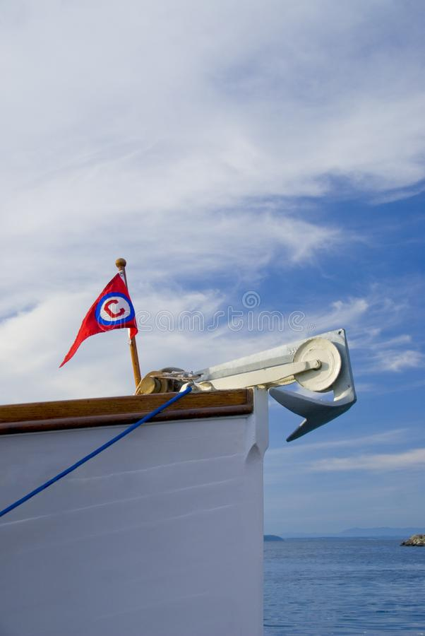 Wooden Boat Bow royalty free stock photography