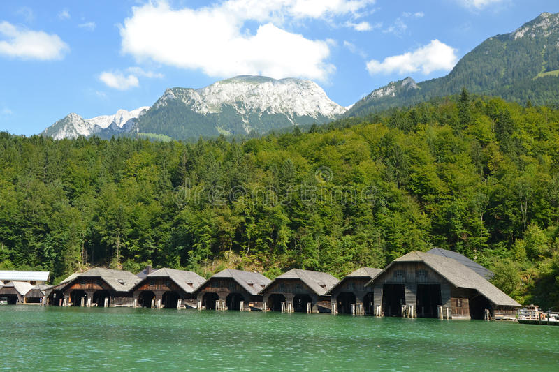 Download Wooden boat houses stock image. Image of mountain, cabin - 33496293