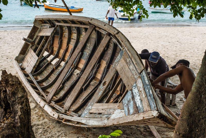 Wooden Boat Restoration & Repair royalty free stock image