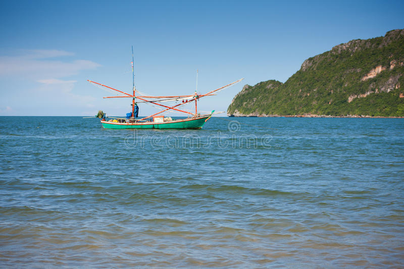 Download Wooden boat in the sea stock photo. Image of ocean, craft - 32762794