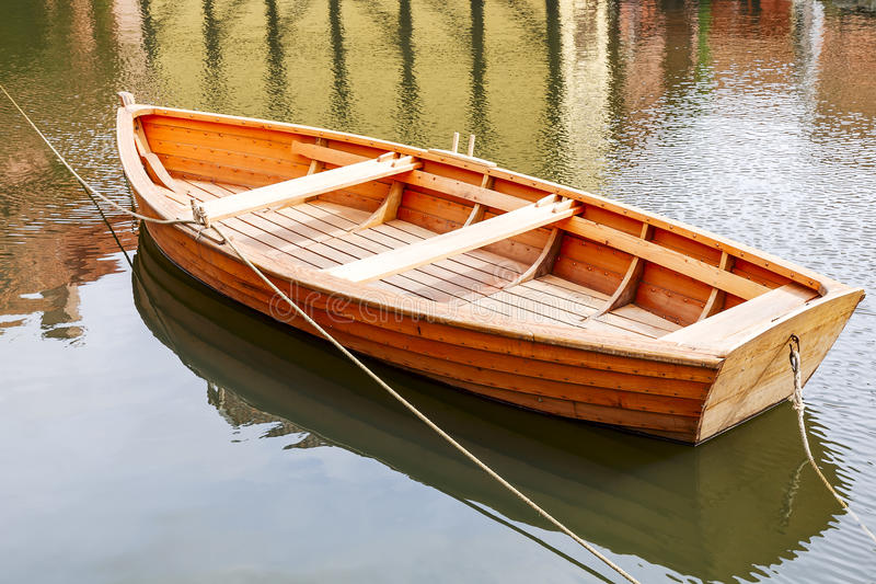 Wooden boat stock photo. Image of hawser, loneliness - 36216618