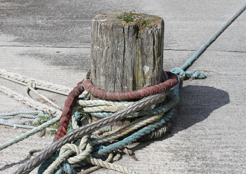Download Wooden Bollard for Boats stock photo. Image of navigate - 25887808
