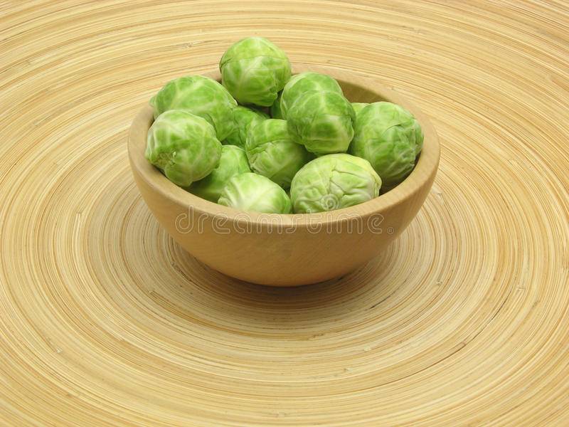 Download Wooden Bowl With Brussels Sprouts Stock Photo - Image: 11344736