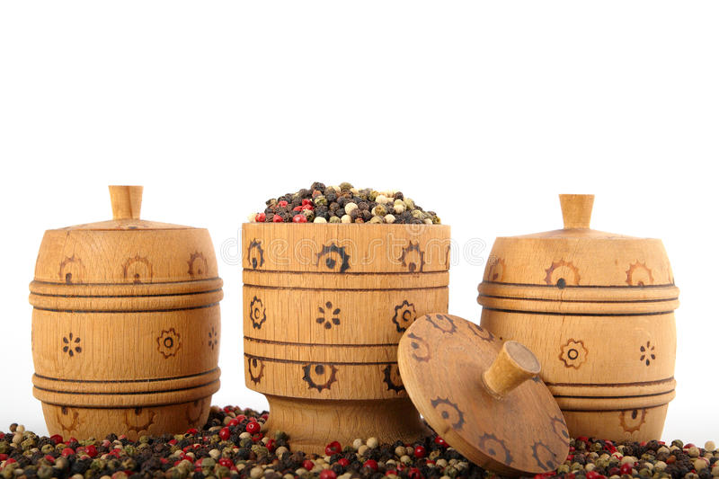 Download Wooden Bowl Full Of Mixed Peppers Stock Image - Image: 24653851