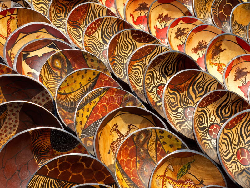 Download Wooden bowls stock image. Image of round, african, craft - 17757059