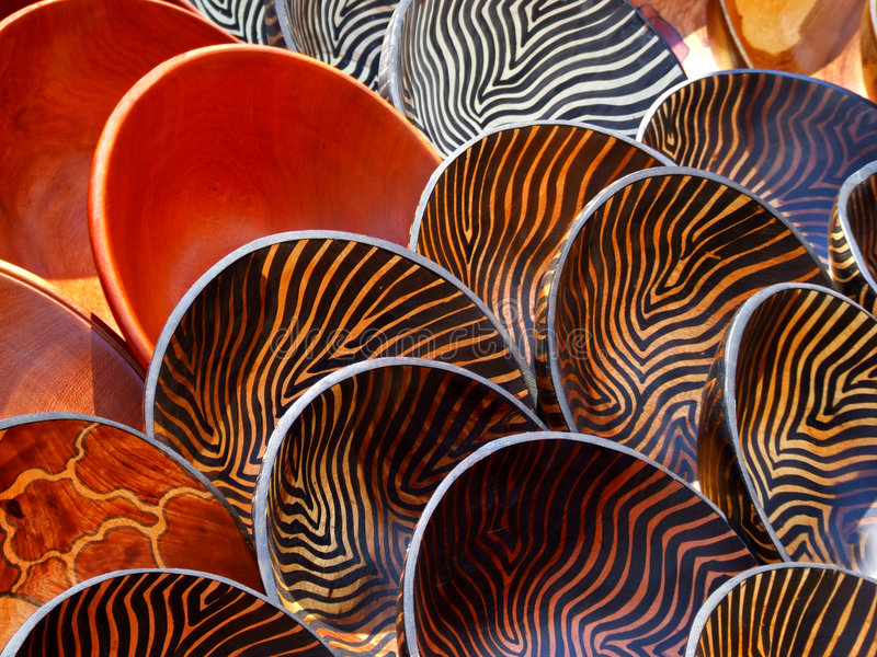 Download Wooden bowls stock photo. Image of handmade, rounded, africa - 7495752