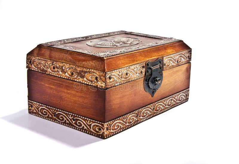 Download Wooden box stock photo. Image of jewelery, isolated, pattern - 12522844