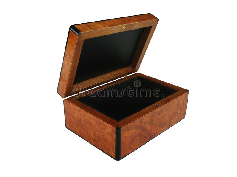 Wooden Box with Clipping path royalty free stock image
