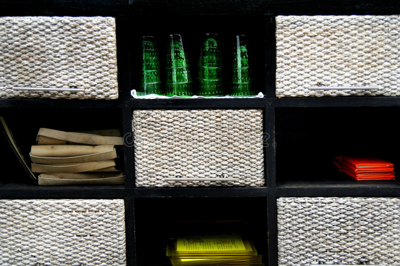 Download WOODEN BOX ON  RACK  Wood Weave Glass Stock Photo - Image: 16733470
