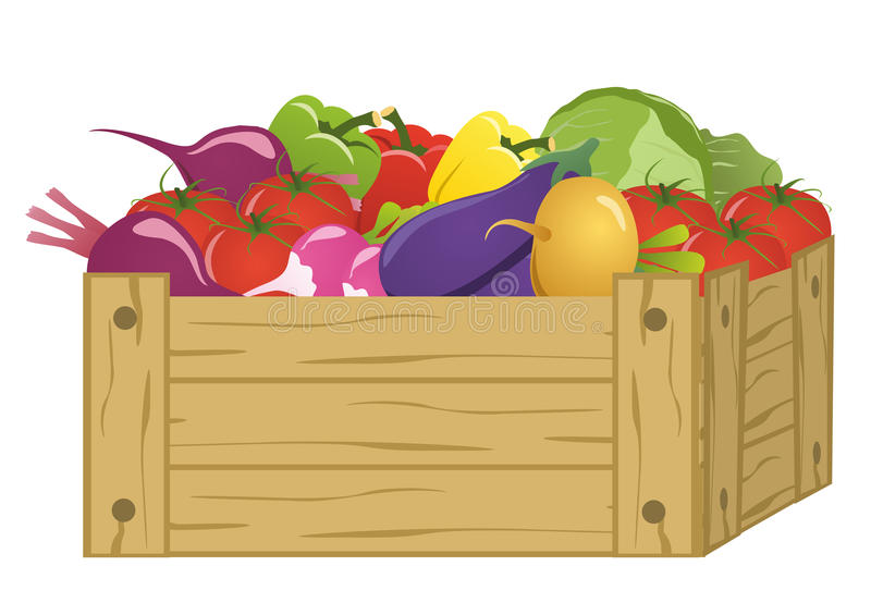 Download Wooden Box With Vegetables Royalty Free Stock Photos - Image: 33348468