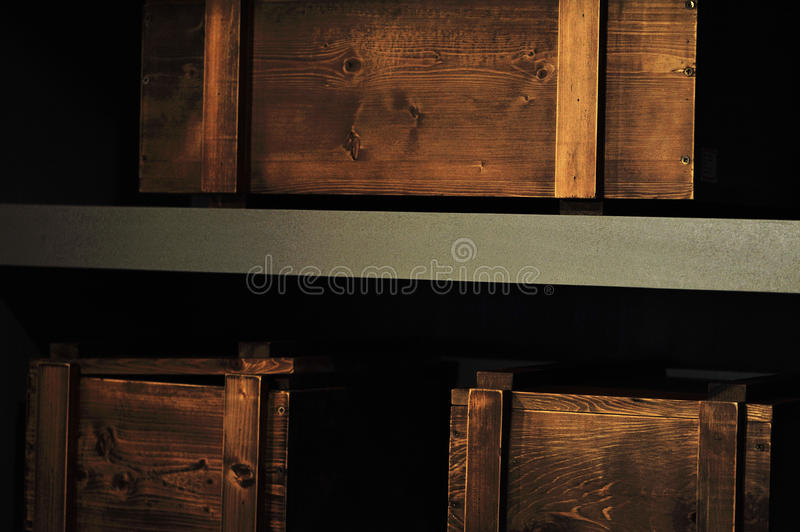 Wooden boxes royalty free stock photos
