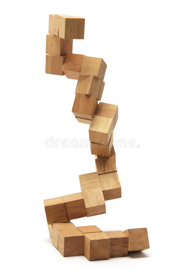 Wooden Brain Teaser stock photos
