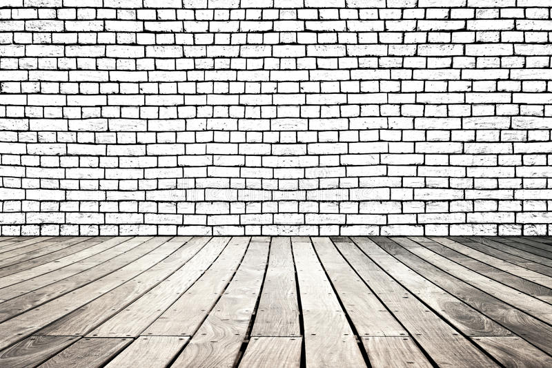 Wooden and brick royalty free stock photo