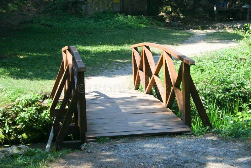 Wooden bridge stock photos