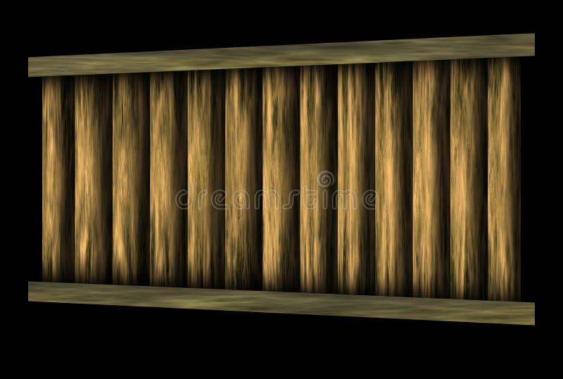 Download Wooden bridge stock illustration. Image of object, walk - 14860314