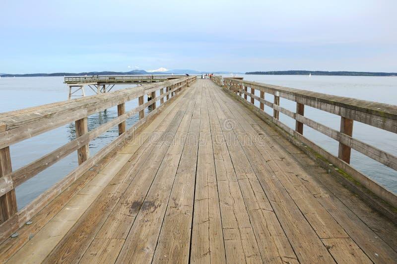 A wooden bridge stock photo
