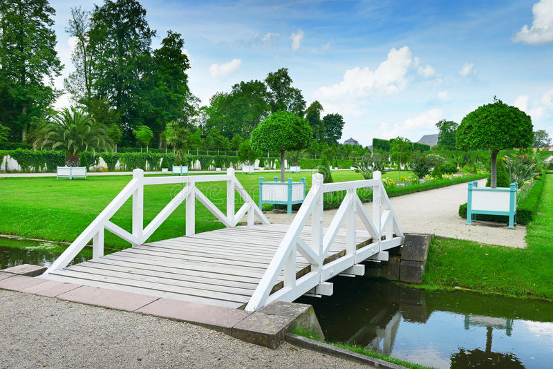 Download Wooden bridge stock photo. Image of horizontal, green - 27026390