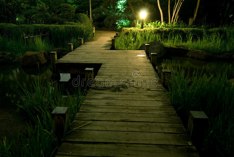 Download Wooden bridge stock photo. Image of wooden, river, direction - 3438570
