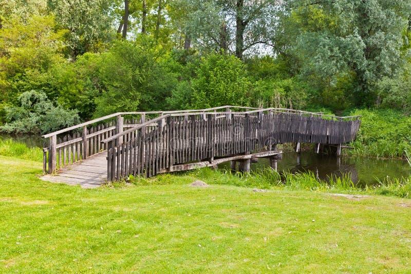 Download Wooden Bridge Across The Pond Stock Image - Image: 25862231