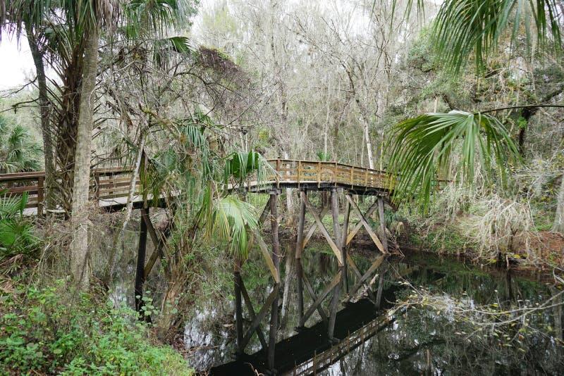 A wooden bridge stock photography