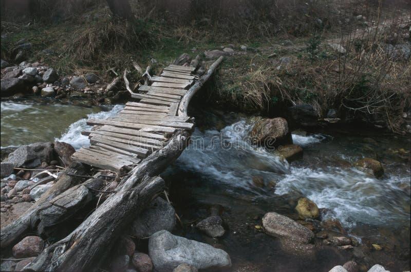Bridge Over A Stream 2 royalty free stock image