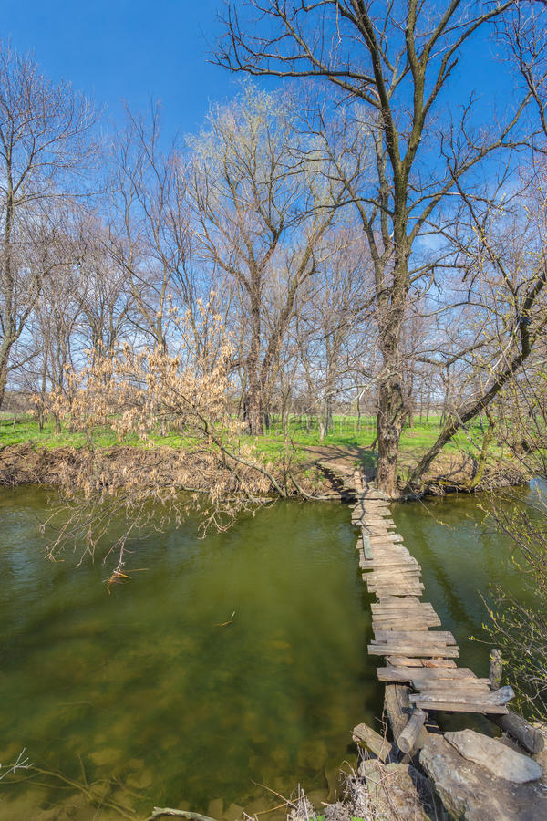 Free Wooden Bridge Over The River Stock Photography - 37903602