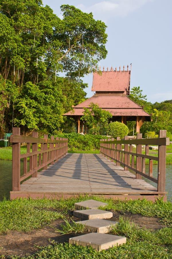 Download Wooden bridge in the park stock photo. Image of bridge - 20655776