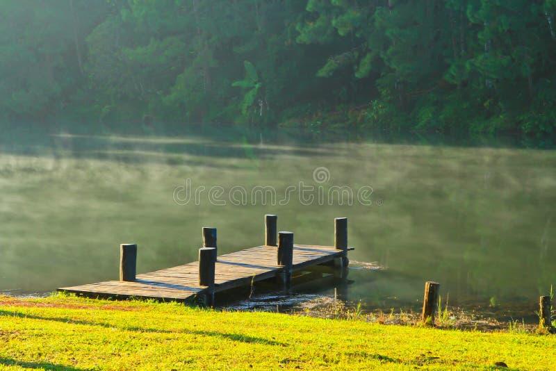 Download Wooden Bridge In The Reservoir Stock Image - Image: 38259615