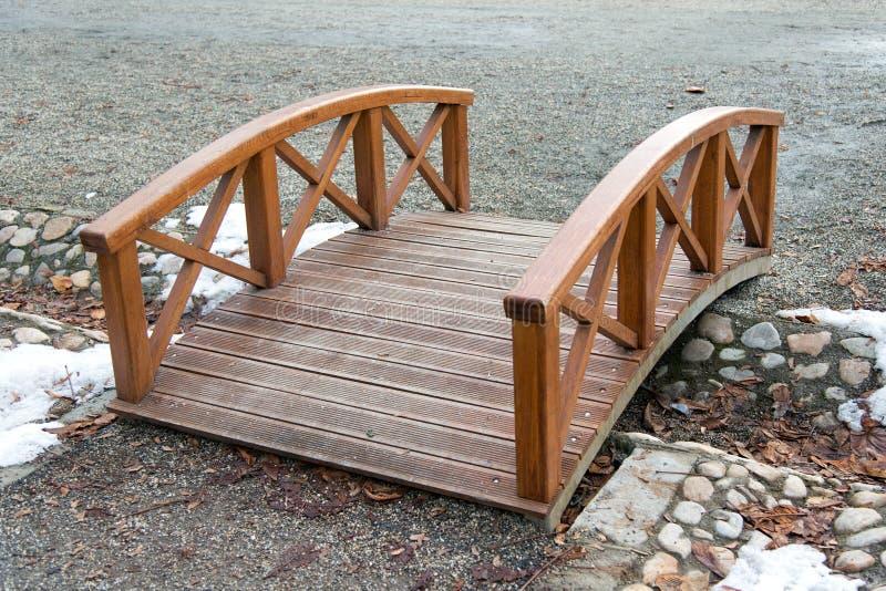 Wooden bridge stock image