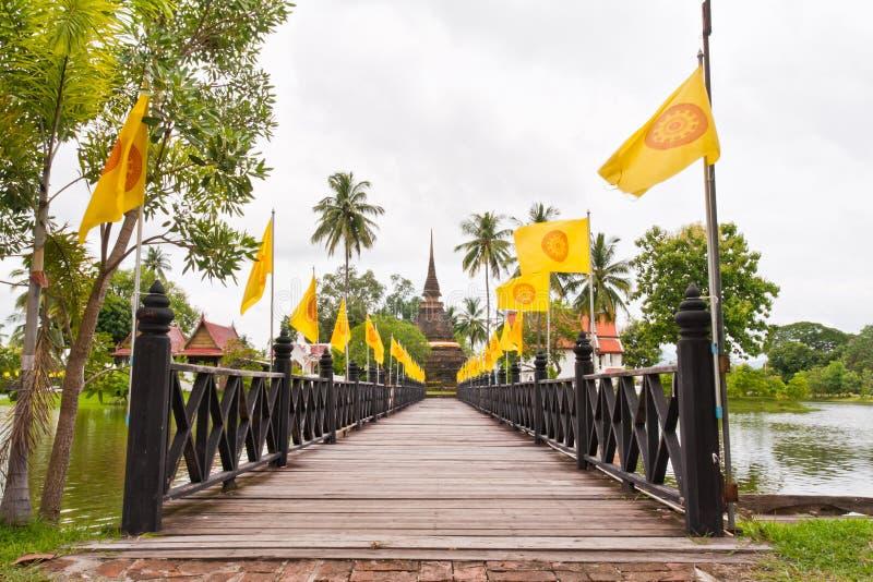 Download Wooden Bridge To Ruin Pagoda Stock Photo - Image of religion, faith: 20360366
