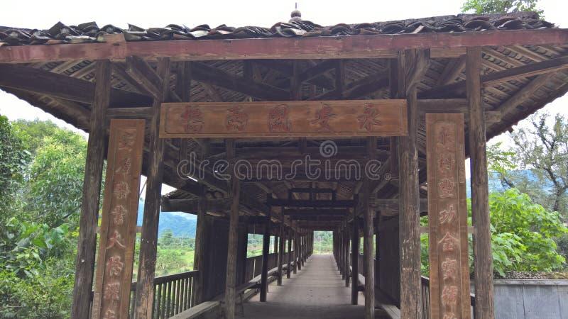 An ancient broken bridge in China royalty free stock image