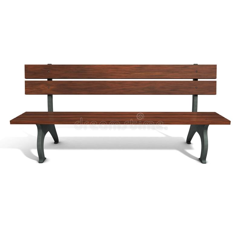 Free Wooden Brown Park Bench. Royalty Free Stock Photo - 14710815