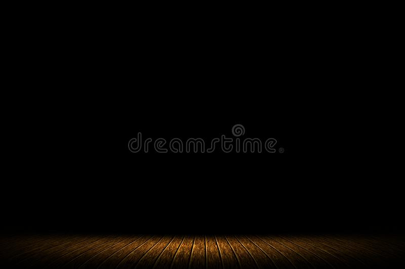 Wooden brown on stage dark entertainment background royalty free stock images