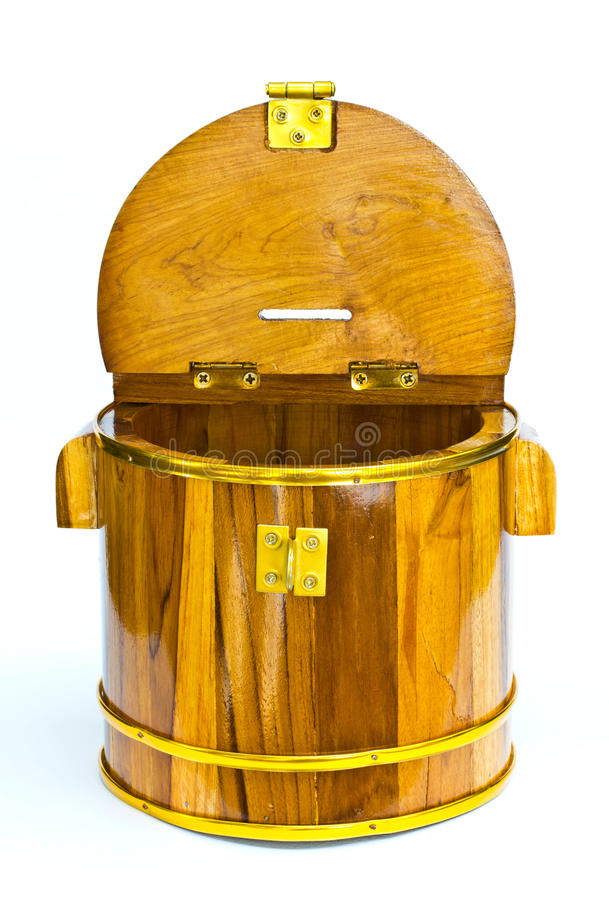 Download Wooden bucket stock photo. Image of container, capacity - 25179126