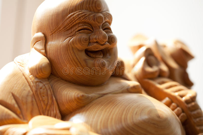 Wooden buddha royalty free stock photos