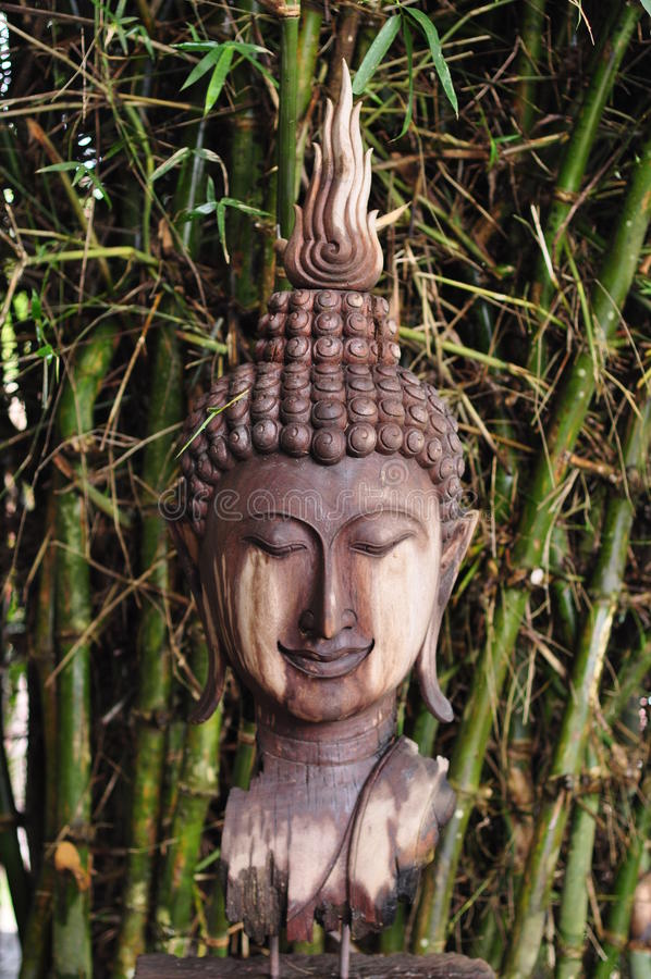 Wooden Buddha royalty free stock image