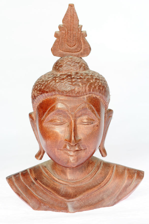 Download Wooden buddha sculpture stock photo. Image of serenity - 26928098