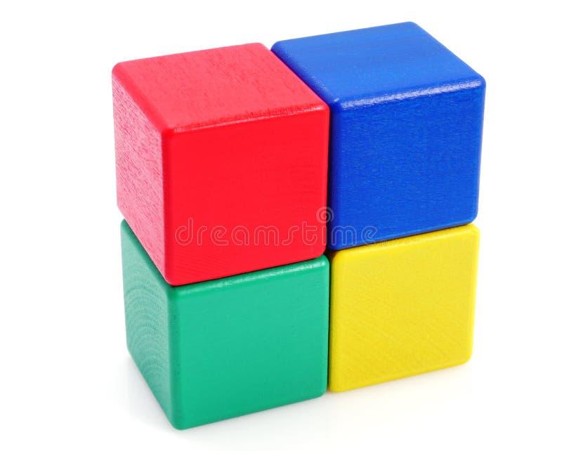 Wooden building blocks. royalty free stock photos