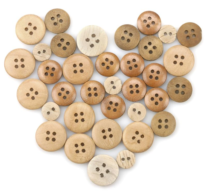 Wooden button royalty free stock photo